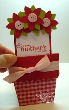 i STAMP by Nancy Riley: FLOWER POT CARD FOR ADA