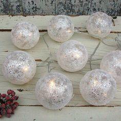 glitter ball battery fairy lights by primrose & plum | notonthehighstreet.com #HarveysChristmas