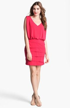 Laundry by Shelli Segal Tiered Skirt Dress available at #Nordstrom