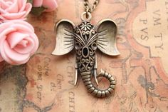 Auspicious NecklaceHollow Out Elephant Necklace Fashion NecklaceFriendship Gift ** You can get additional details at the image link. #FriendshipGift