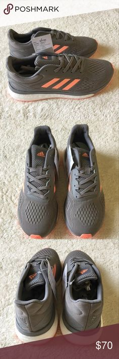 Women's Adidas Response LT Running Shoe Sz 7 New without box Response LT running shoes Women's size 7 Gray/pink colors  Style #BA7783 Says sample on the inside sizing label I will ship the shoes in a Box adidas Shoes Athletic Shoes