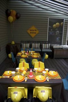 Construction birthday party, Bob the Builder, themes, kids, parties, birthdays, ideas, how to, throw