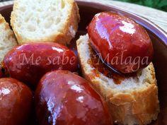 Me sabe a Málaga: Chorizos en almíbar