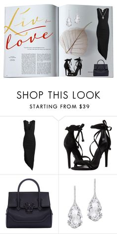 """""""Dangerous Woman"""" by aharcaki ❤ liked on Polyvore featuring Sans Souci, Schutz, Versace, Plukka and Forzieri"""