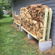Cheap Firewood, Outdoor Firewood Rack, Firewood Holder, Firewood Shed, Firewood Storage, Stacking Firewood, Stacking Wood, Backyard Projects, Outdoor Projects
