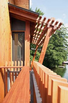The most considerable area to enjoy that houseboat is on Lake Muskoka located in state Ontario, Canada. This boathouse called Muskoka is designed by Christopher Ontario, Lakefront Property, Floating House, Canada, Beautiful Interior Design, Beautiful Buildings, House In The Woods, Rustic Design, The Great Outdoors