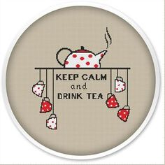IINSTANT DOWNLOAD, Free shipping, Cross Stitch PDF, Cross stitch pattern, Cute thing,Tea Time.