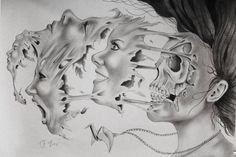 Realistic Pencil Portrait Mastery - Learn How To Draw Realistic Pencil Portraits Mental Health Art, Gcse Art Sketchbook, Psy Art, Art Brut, Pinup Art, A Level Art, Identity Art, High Art, Human Condition