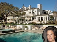 Rob Lowe's custom 20-room, Georgian-style estate was featured in Architectural Digest. The house sits on four acres in beautiful Santa Barbara, California