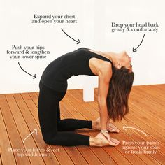 Camel pose helps to stimulate the chest and lungs