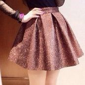 Pink or Black Sequin Circle Skirt
