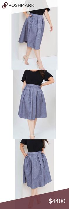 Jacquard Full Midi Skirt A full midi skirt with pleated waist in grey jacquard. Skirts Midi