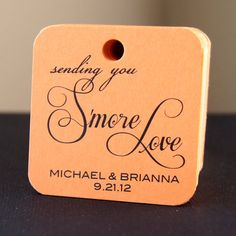Smore Love  120 Personalized Wedding Favor Tags on by scrapbits, $64.00
