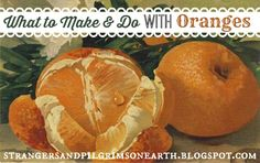 Strangers & Pilgrims on Earth: What to Make and Do with Oranges ~ Citrus Series