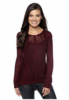 Dex Long Sleeve Crochet Sweater