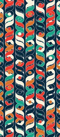 Russfussuk 'Helix' D10A #pattern #patterndesign #surfacepattern #patternprint #dna #helix #ribbon #geometric #circles #generative #geometria #padrões #russfussuk