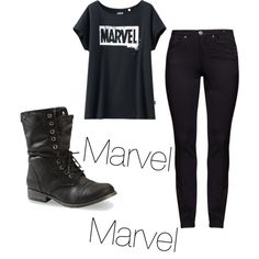 Marvel by sraley on Polyvore featuring polyvore fashion style Uniqlo