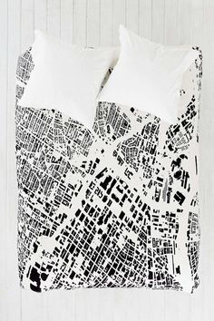 CityFabric Inc For DENY La White Duvet Cover