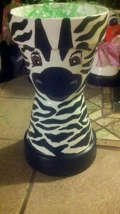 ZeBRa from TeRRa CoTTa FLoWeR PoTS