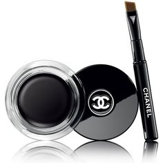 Chanel CALLIGRAPHIE DE CHANEL Longwear Intense Cream Eyeliner (45 AUD) ❤ liked on Polyvore featuring beauty products, makeup, eye makeup, eyeliner, black, cream eye liner, chanel eye liner, chanel eyeliner, long wear gel eyeliner and chanel