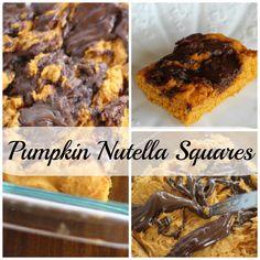 Pumpkin Nutella squares - Three Ingredients! - Momcrieff
