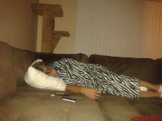 He looks so cute when he's sleeping... <3 <3
