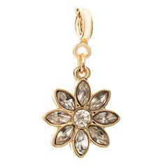 GOLD CRYSTAL FLOWER CHARM  £16.00 [www.myflashtrash.com]