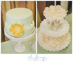 Wedding Desserts Table in Mint Green, Blush Pink and Gold.   Desserts | Sugared Moments www.sugaredmoments.ca