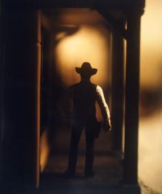 David Levinthal's Wild West Series was shot with a Polaroid Land Camera. In the images, Levinthal arranges figurines into stereotypical poses to portray the rugged individualism of the Western hero. Miniature Photography, Toys Photography, Color Photography, Dark And Twisty, Wild West, Artsy, David, The Incredibles, Gallery