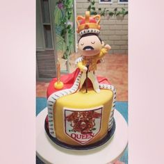 Freddie Mercury Cake Queen Freddie Mercury, Queen Birthday, Birthday Cake, Freddie Mercuri, 50th Birthday Party Decorations, Queen Cakes, Torte Cake, Cakepops, Celebration Cakes