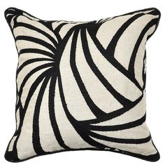 Whirlie Black Pillow design by Villa Home