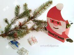 Mój własny kreatywny świat: Mikołaj na słodycze - szablon