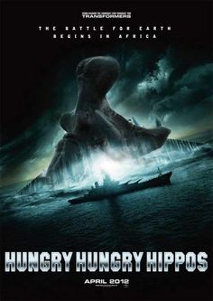 Hungry Hungry Hippos fake movie poster