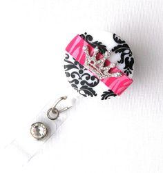 Princess Crown - Bling Badge Reels - Unique Badge Holder - Stylish Name Badge Clip - Nurse Jewelry - RN Gifts - BadgeBlooms