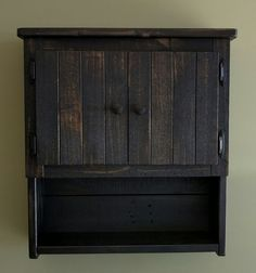 Rustic Double-door Wall Cabinet with Shelves made by WoodXDesigns