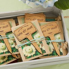 Wedding Favor Personalized Plant Markers
