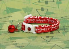 Hey, I found this really awesome Etsy listing at https://www.etsy.com/listing/244500244/holiday-cat-collar-happy-holidays-on-red