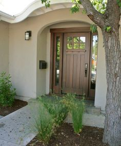 This is the front door we ordered, with different sidelights, and metal so it can be painted YELLOW