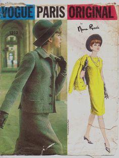 Vintage 1960s Vogue Paris Original Pattern 1313 by CloesCloset, $46.00 #60s #retro #vintage