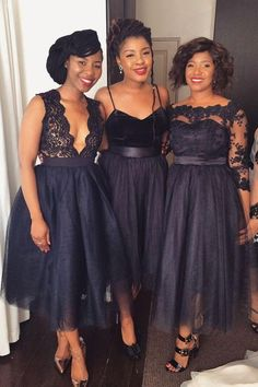 Navy Blue Prom Dresses, Lace Prom Dresses, Bridesmaid Dresses A-Line, Beautiful Prom Dresses, Custom Prom Dresses Bridesmaid Dresses 2018 Black Lace Bridesmaid Dress, Mismatched Bridesmaid Dresses, Black Bridesmaid Dresses, Lace Bridesmaids, Wedding Dresses Plus Size, Wedding Party Dresses, Trendy Dresses, Dress Party, Trendy Outfits