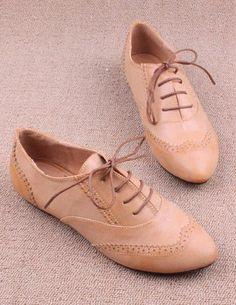 cream oxford shoes | me love it <3 :)