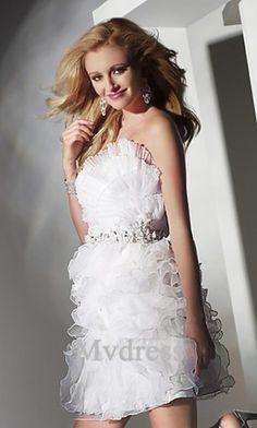 Homecoming Dresses#Short #White #Dress