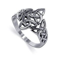 Intricate Irish Celtic Double Triquetra / by 925silvertreasures, $32.99