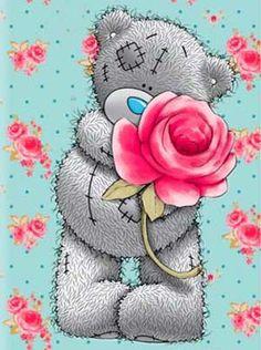 Diamond embroidery for children Cartoon bear diamond painting complete mosaic pattern Cross-stitch kits Pictures of rhinestones. Tatty Teddy, Bear Cartoon, Cartoon Kids, Teddy Bear Quotes, Bear Images, Teddy Bear Pictures, Blue Nose Friends, Bear Wallpaper, Cute Teddy Bears