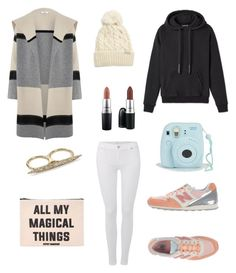 """""""Untitled #96"""" by tyra-breann on Polyvore featuring New Balance, Rella, 7 For All Mankind, Forever 21, Vince, MAC Cosmetics and Alexis Bittar"""