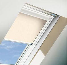 An image of the Golden Sand roof window blind. This hue is a cool and tranquil shade in itself. We offer this natural shade in a roof window blind so you can block light from the world outside but create a peace harmonious environment inside.