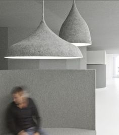 Amazing felt lamps by architects: Duivendrecht in Amsterdam Interior Lighting, Home Lighting, Lighting Design, Pendant Lighting, Pendant Lamps, Suspended Lighting, Pendants, Lighting Ideas, Eco Deco
