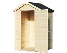Gerätehaus Mini mit Fußboden 120x126 cm natur