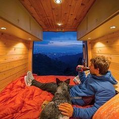 Dog. Beer. Twilight view. All you need right there. Photo: @ltjian Show off your Sprinter Van! Tag you pics #sprintercampervans to be featured Regram via @sprintercampervans