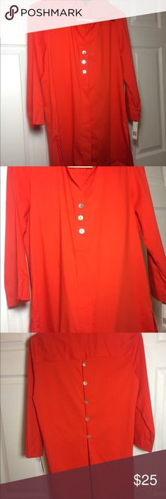 👚 NEW! Tangerine button up shirt NWT! 👚 NEW! Tangerine button up shirt NWT! Zac & Rachel Tops Button Down Shirts